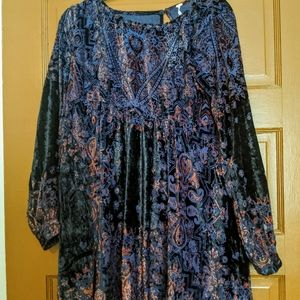 Free People Mirror Mirror Velvet Mini Dress NWT, S
